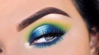 James Charles Eyeshadow Palette | Green Eye Makeup Tutorial
