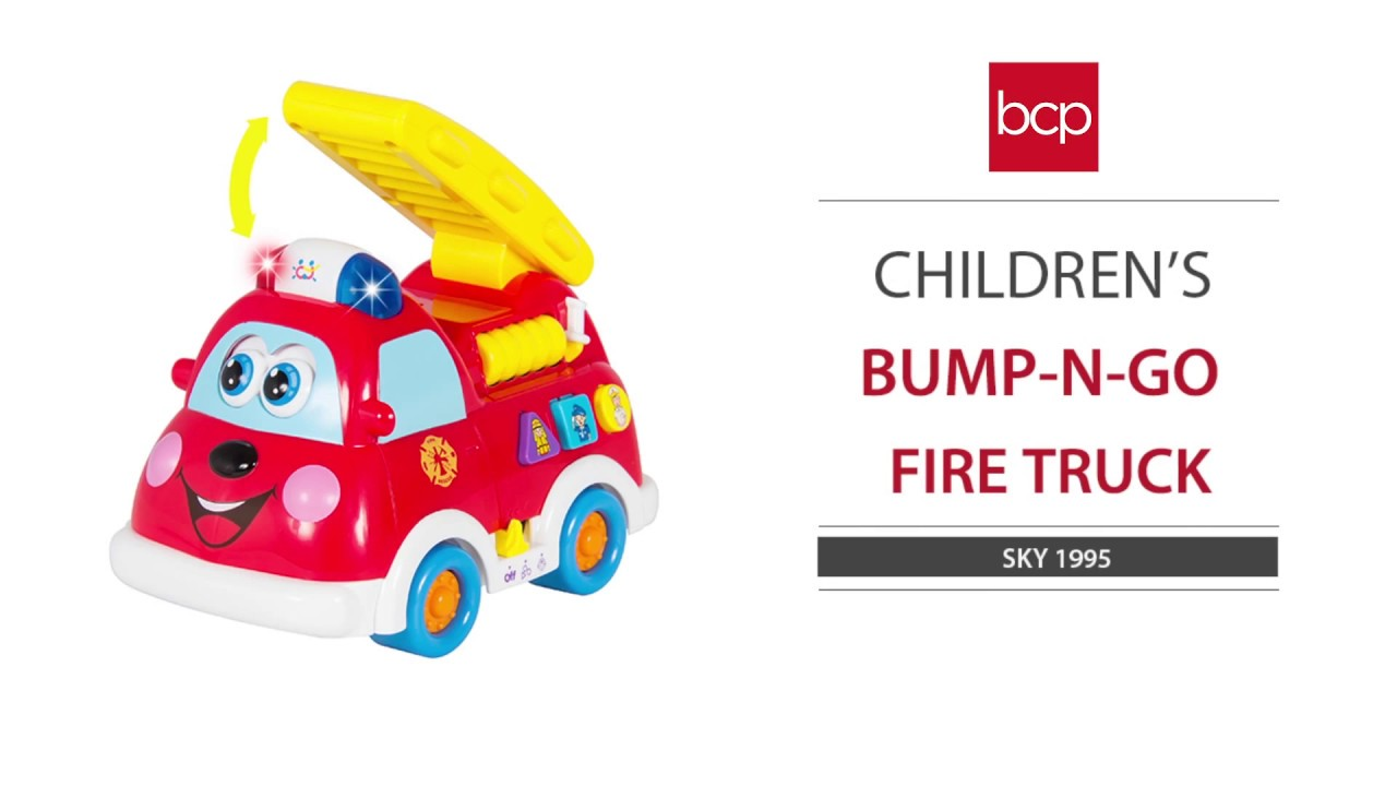 SKY1995 Bump and Go Teaching Firetruck (English and Spanish)