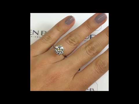 3.4 ct Round Diamond Engagement Ring