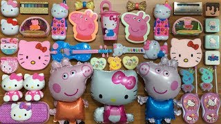 SPECIAL SERIES PEPPA PIG & HELLO KITTY SLIME   Mixing Too Many Things into Clear Slime   Tom Slime