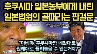 """원한을 품은 일본 농민에게 일본법원이 내린 어이없는 결정문! """"이거 다 아베눈치 보고 그러는거지?"""""""
