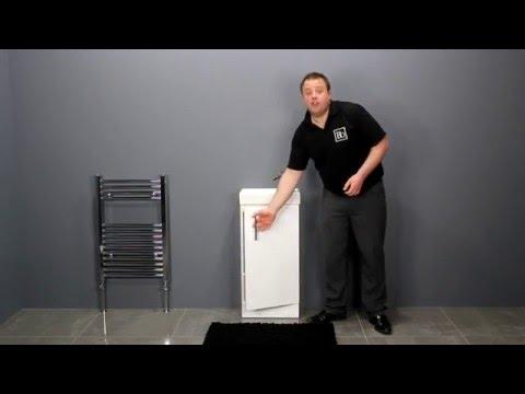 Gloss White Modern Vanity Unit for Cloakroom Bathrooms