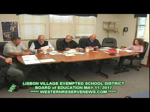 LISBON BOARD of EDUCATION FORECAST and  LEVY THOUGHTS MAY MEETING