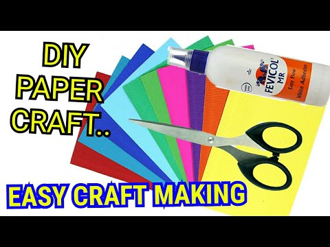 DIY Paper Craft || Easy Craft making video || Paper Bow Tie & Fish making video.