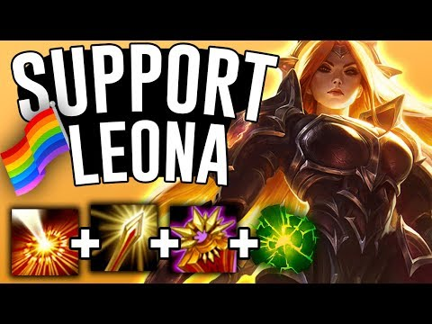 AFTERSHOCK LEONA CAN CARRY BOT LANE?! - League of Pride - Leona Support - League of Legends