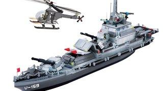 Военный Корабль Banbao, конструктор аналог Lego