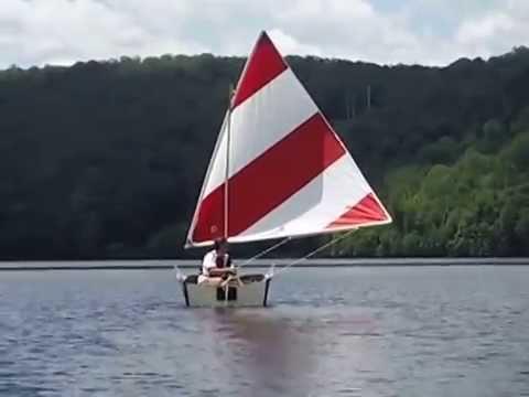 Porta Bote Folding Boat Sail Kit Test Very Light Wind 1 3