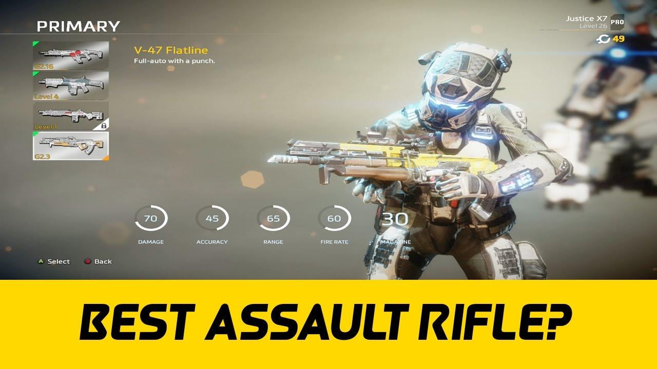 The Best Assault Rifle In Titanfall 2? (V-47 Flatline ) - YouTube