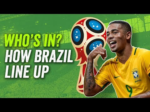 David Luiz, Gabriel Jesus OUT?! How Brazil will line up at the 2018 World Cup in Russia