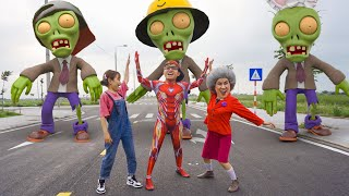 Scary Teacher 3D In Real Life : Spooky box - Nick IronMan VS Zombie rescue Miss T & Tani