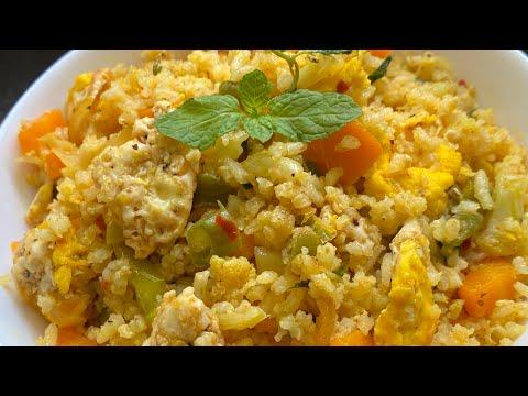 weight-loss-brown-egg-vegetable-rice|-easy-&-simple-method