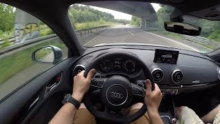 Audi RS3 (2015) on German Autobahn - POV Top Speed Drive