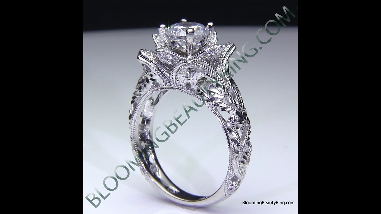 ring winstone rings flower platinum lotus project engagement trilogy aimee