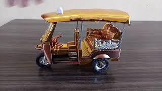 Tuk Taxi Model Souvenir Thailand Toy Handmade Collectible Bangkok Gold Size L