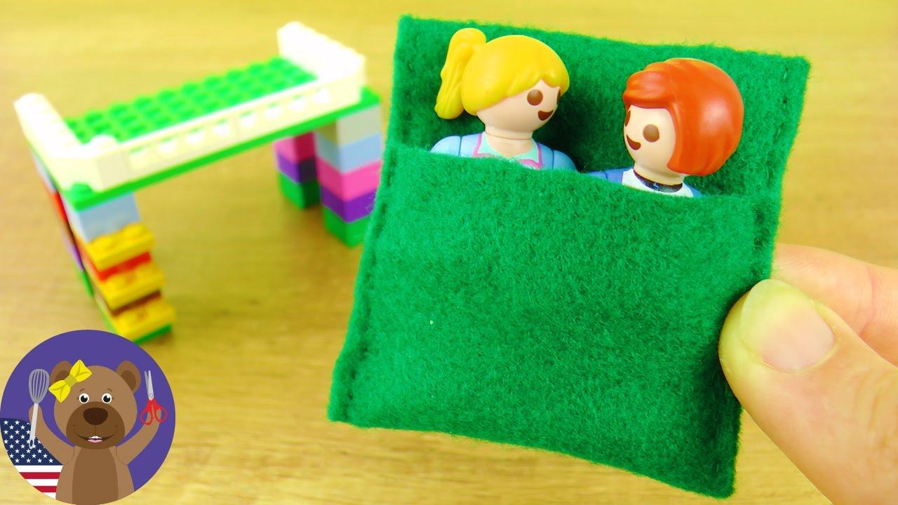 PLAYMOBIL Sleeping Bag DIY Minecraft Style Bed And Sleeping Bag - Lego minecraft hauser