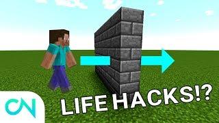 7 LIFE HACKS I MINECRAFT