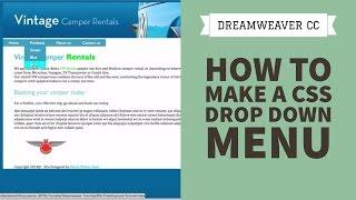 Dreamweaver CC CSS menü aşağı bir damla elde etmek için nasıl [33/34]