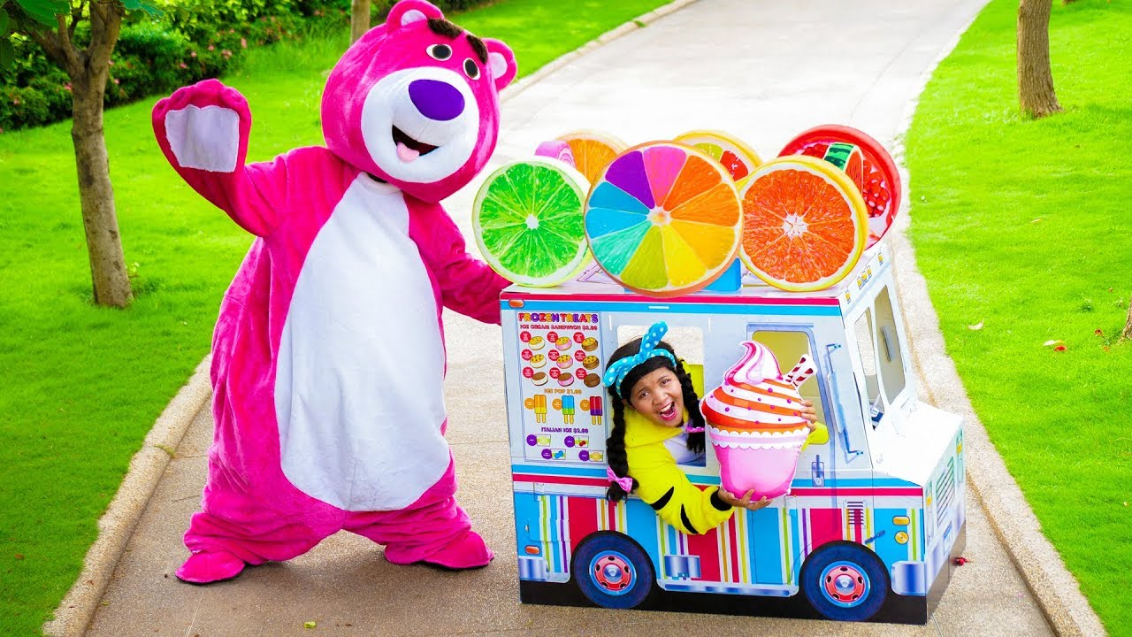 Johny Pretend Play with Fruit Food Cart Toy
