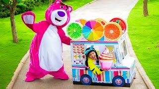 Linda Pretend Play with Fruit Food Cart Toy