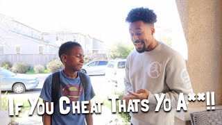 When Your SON Gets Caught Cheating In School!!