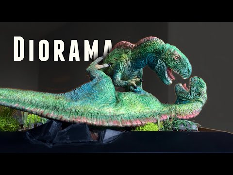 DIY Dinosaur Diorama Base! Grass, Terrain And Painting!