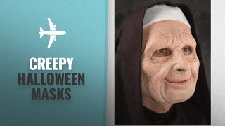 Top 10 Scary & Creepy Halloween Masks For Women: The Town Scary Nun Mask - ST