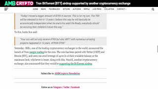 Good news for Tron Holders ||  Bittorrent Token ||