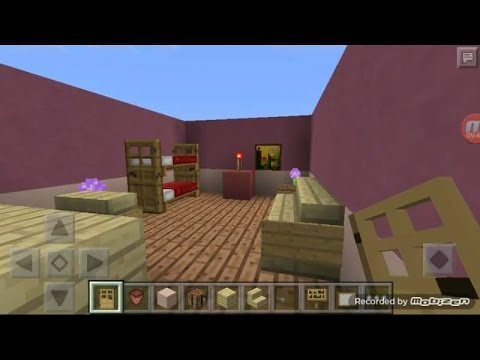 How To Make Cute Bedroom For Girls In Minecraft Pe Youtube
