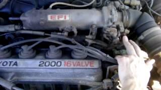 Проверка двигателя 3S-FE Toyota Camry SV21 1987 год