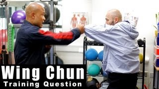Wing Chun training - wing chun how to deal with the chain punch Q14
