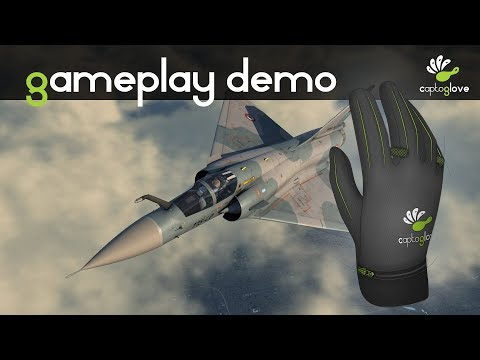 DCS World 2 gameplay Mirage2000 with CaptoGlove virtual glove
