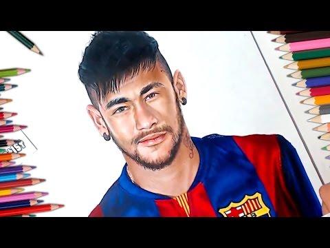Dibujo De Neymar - Speed Drawing - Drawing Neymar