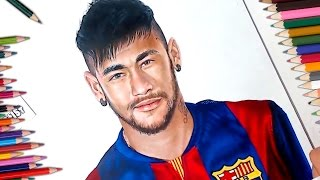 Dibujo de Neymar - Speed Drawing - Drawing Neymar