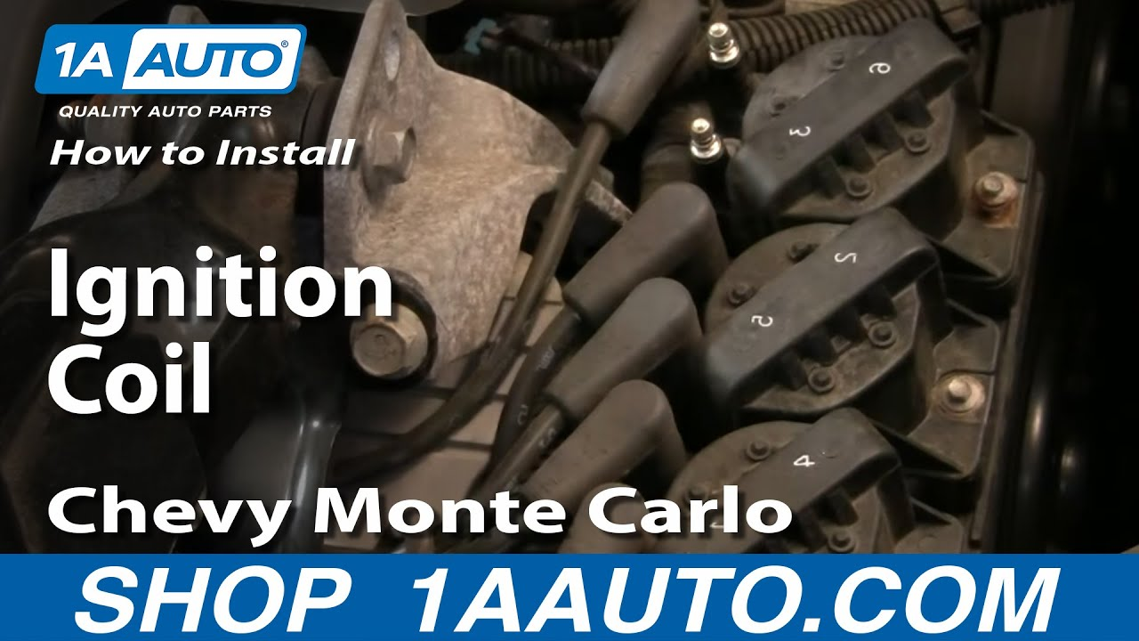 how to install replace ignition coil gm 3800 3 8l grand prix monte rh youtube com 94 Chevy 1500 Wiring Diagram Points Distributor Wiring Diagram
