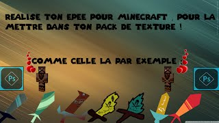 Faire Son Epee Hd Pour Minecraft Sur Photoshop By Tioxbew