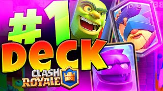 #1 DECK IN CLASH ROYALE has ELIXIR GOLEM