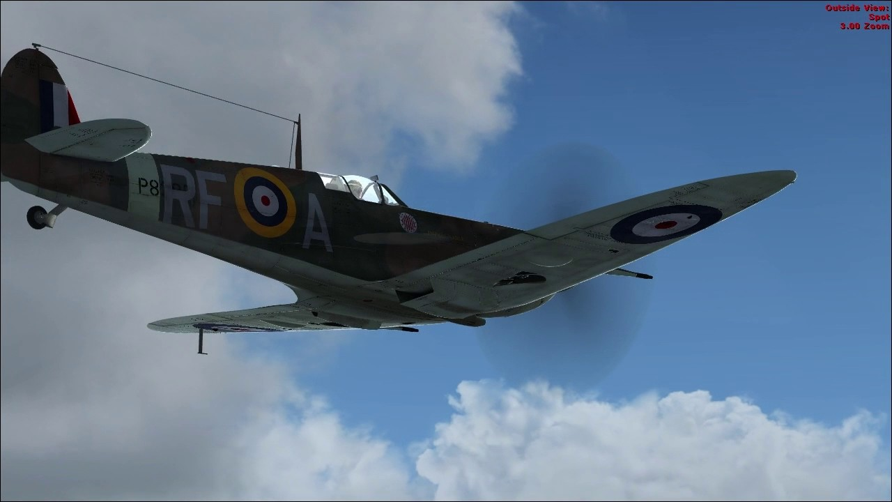 An Ii B B Spitfire Mk Ii B 303 Microsoft Flight Simulator X Youtube