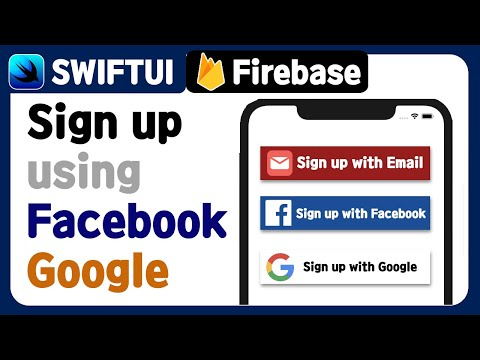 [SwiftUI] Firebase Sign Up ( Authentication ) (2) - Using Facebook, Google Account Tutorial