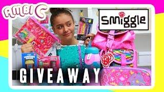 Smiggle Haul Back to School 2017 GIANT Giveaway Smiggle School Supplies Haul Stationery Ambi C Vlog