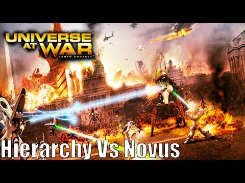 Universe at War: Earth Assault Skirmish Gameplay Hierarchy Vs Novus