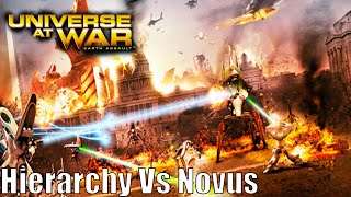 Universe at War: Earth Assault Skirmish Gameplay Hierarchy Vs Novus