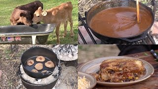 Dutch Oven Enchiladas (w/ Sauce from Scratch) and Cake Box Cookies (Episode #413)
