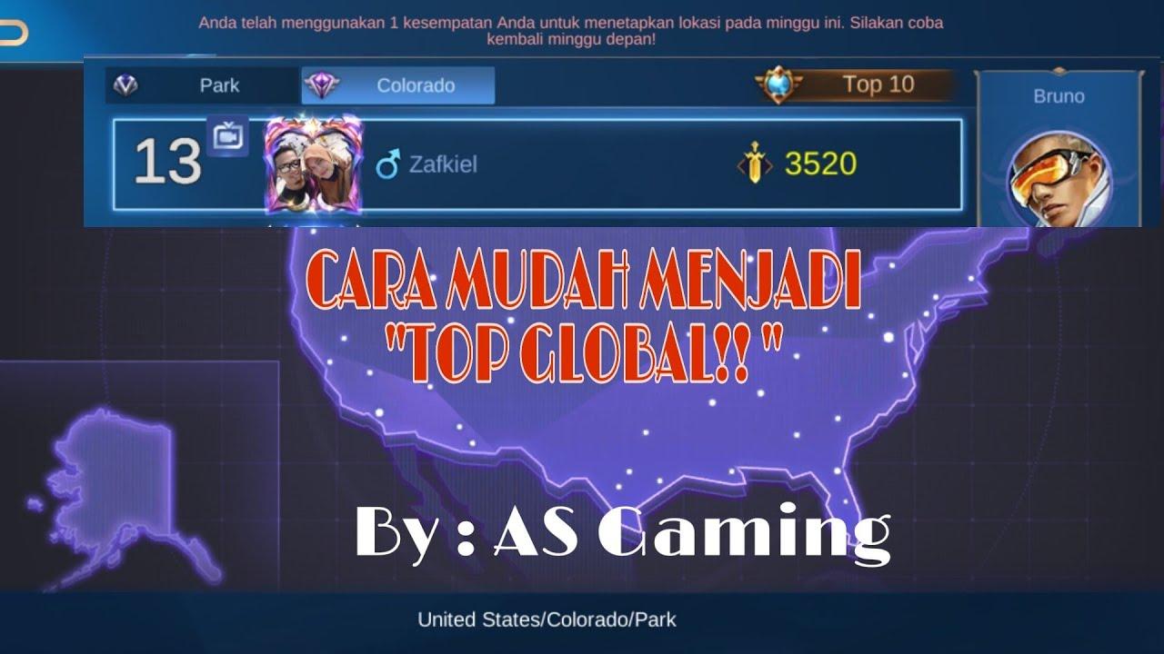 CARA MERUBAH LOKASI MOBILE LEGEND!!! AUTO JADI TOP GLOBAL ...