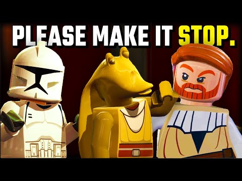 What happens in the elevator in Lego Star Wars... |
