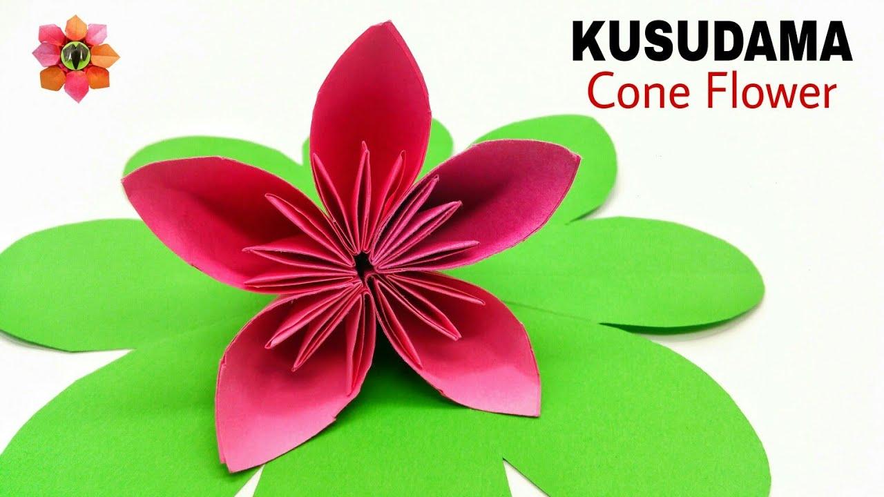 Kusudama cone flower diy tutorial 13 youtube kusudama cone flower diy tutorial 13 mightylinksfo