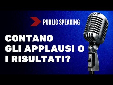 Immagine per Public Speaking: contano gli applausi o i risultati ?