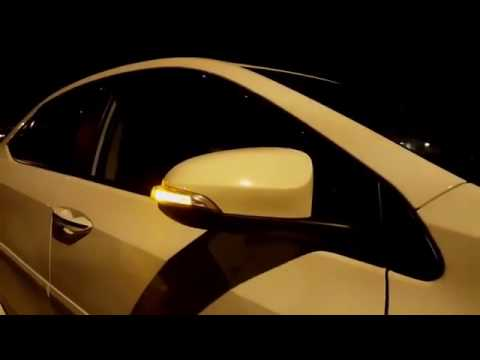 door mirror cover with led toyota corolla camry 2016 youtube. Black Bedroom Furniture Sets. Home Design Ideas