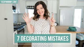 7 DECORATING MISTAKES (and how to fix them!) | The DIY Mommy