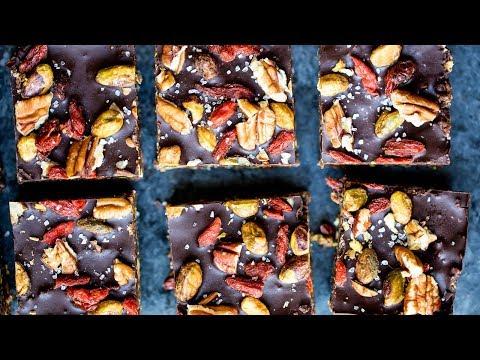 No Bake Superfood Brownie Energy Bars