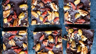 No Bake Superfood Brownie Energy Bars